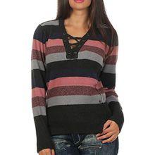 Khujo Damen Feinstrick Pullover Nayla 1160KN173 multi striped (C60) S