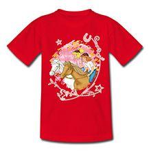 Spreadshirt Bibi und Tina Wettreiten IM Wald Kinder T-Shirt, 110/116 (5-6 Jahre), Rot