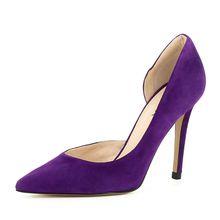 Evita Shoes Damen Pumps halboffen ALINA Klassische Pumps lila Damen