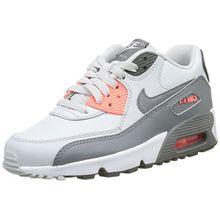 Nike Unisex-Kinder Air Max 90 Ltr GS Sneakers, Elfenbein (Pure Platinum/Cool Grey/Lava G), 37.5 EU
