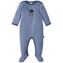 Schiesser Baby-Jungen Zweiteiliger Schlafanzug Zirkus Strong Boy Anzug mit Fuß, Blau (Blau 800), 62 (Herstellergröße: 062)