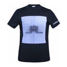 J.Lindeberg - Jono Rips Cotton Herren Trainingsshirt (schwarz) - XL