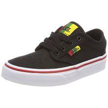 Vans Unisex-Kinder Atwood Sneaker, Schwarz (Rasta), 38.5 EU