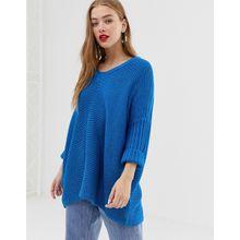 Noisy May - Oversize-Pullover mit V-Ausschnitt - Blau