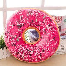 Donut Kissen Fall, wanshop® Soft Plüsch Kissen gefüllt Sitz Pad Sweet Donut Foods Sofa Kissenbezug Fall Toys 40cm x 40cm x 12cm e