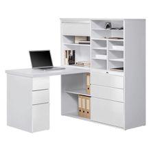 XXXL MINI-OFFICE Schreibtisch seitenverkehrt montierbar Weiß