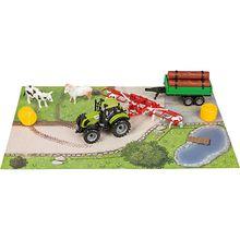 Idena Traktor Set mit Zubehör, 7 Teilig