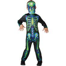 Kostüm Neon Skeleton