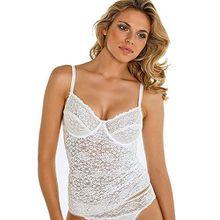 Nina von C. Damen BH-Hemd, Millefleurs 80B Weiß