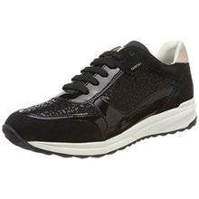 Geox Damen D Airell C Sneaker, Schwarz (Black), 37 EU