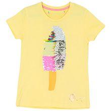 Desigual Mädchen T-Shirt Manitoba, Gr. 128 (Herstellergröße: 7/8), Gelb (Fresh Yellow 8023)