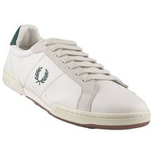 Fred Perry Men's Men's White Sneakers Β722 With Green Details In Size 43 White