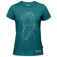 Fjällräven - Women's Greenland Printed T-Shirt - T-Shirt Gr S;XS rot;türkis