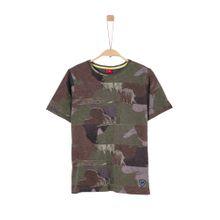 S.Oliver Junior Shirt brokat / khaki