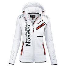 91J3 Geographical Norway Reine Lady Damen Softshell Jacke Weiß Gr. M