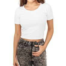 Urban Classics Damen T-Shirt Cropped, Weiß (White 00220), Medium