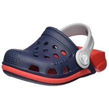 crocs Electro III Clog Kids, Unisex - Kinder Clogs, Blau (Navy/Flame), 32/33 EU