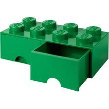 LEGO Schubladenbox Storage Brick 8er Stein grün