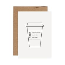 redfries papercup –Letterpress-Klappkarte DIN A6 mit Umschlag
