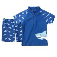 PLAYSHOES 2-teiliger Schwimmanzug blau