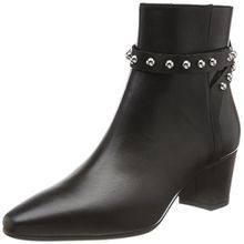 HUGO Damen Shoreditch Bootie-C Stiefeletten, Schwarz (Black), 37 EU