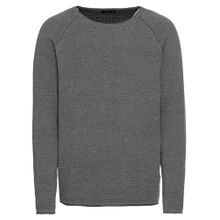 Review Pullover 'CN 2TONE' graumeliert