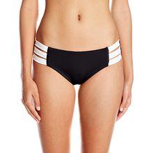 Seafolly Damen Block Party Multi Strap Hipster Bikinihosen,per pack Schwarz (Black),40 (Herstellergröße:14)