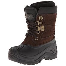 Kamik NATIONJR, Unisex-Kinder Schneestiefel, Braun (DBR-DARK BROWN), 32/33 EU