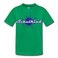 Spreadshirt Einschulung Schulkind Kinder Premium T-Shirt, 122/128 (6 Jahre), Kelly Green