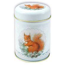 Dose Eichhörnchen mit Deckel 100 g Teedose Waldtier