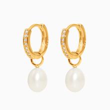 Kreolen CAMBRIDGE gold Perle