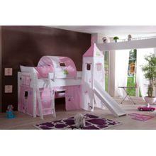 Relita Vorhangset mit Turm Spielbetten, Prinzessin rosa  Kinder