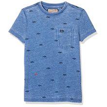 Petrol Industries Jungen T-Shirt B-SS18-TSR606, Blau (Seascape), 176