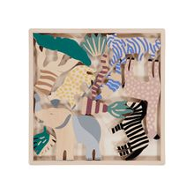 ferm Living - Safari Animal Box (12er-Set), Birke multi