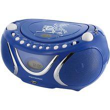 "CD-Player Boombox mit USB/MP3/Radio ""Square"" blau"