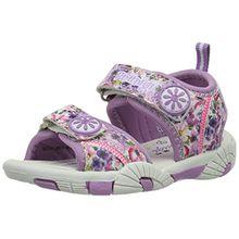 Primigi Mädchen Pcs 7337 Offene Sandalen mit Keilabsatz, Violett (Glicine), 28 EU