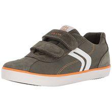 Geox Jungen J Kilwi I Low-Top Sneaker, Grün (Military/Orange), 31 EU