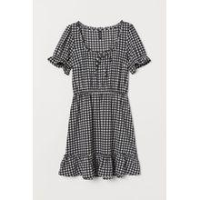H & M - Kurzes Kleid - Schwarz - Damen