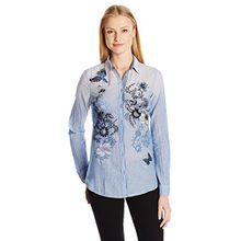 Desigual Damen Hemden Cam_NY, Blau (Cameo Blue 5078), Gr. Large (Herstellergröße: X-Large)