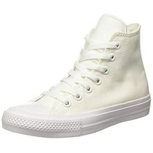 Converse Unisex-Erwachsene Chuck Taylor All Star Ii High-Top, Weiß (White/White/Navy), 44 EU