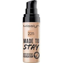 Misslyn Teint Make-up Made To Stay Water-Resistant Foundation Nr. 225 Fresh Tan 25 ml