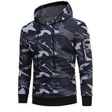 Herren Pullover, FEITONG Männer Langarmshirt Sweatshirt Tops Jacken Mantel Outwear (L, Grau)
