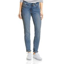Cecil Damen Straight Jeans 371169 Scarlett, Blau (Light Blue Used Wash 10349), W30/L30