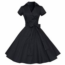 Shanxing Damen Rockabilly Kleid 1950er Retro Polka Dots Faltenrock Petticoat Party Cocktailkleid