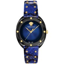 VERSACE Uhr 'Shadov' dunkelblau / schwarz