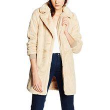 VERO MODA Damen Mantel Vmdimitra 3/4 Jacket, Beige (Ivory Cream), 40 (Herstellergröße: L)