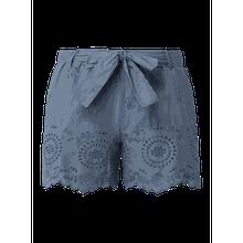 Shorts mit Lochstickereien Modell 'Shery'