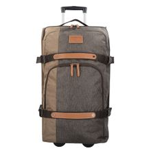 SAMSONITE Trolley braun / cognac / brokat