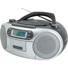 CD Player mit DAB+ Radio und Kassettenspieler, grau