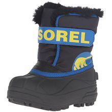 Sorel Unisex Baby Toddler Snow Commander Stiefel, Blau (Black, Super Blue 011), 24 EU
